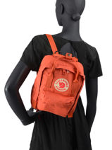 Sac à Dos Kånken 1 Compartiment Fjallraven Orange kanken 23561-vue-porte