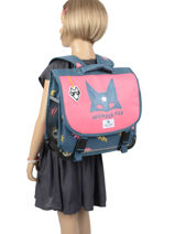 Cartable 1 Compartiment Pol fox fille FCA35-vue-porte