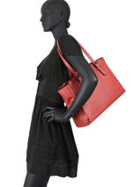 Sac Shopping A4 Gracieuse Hexagona Rouge gracieuse 316137-vue-porte