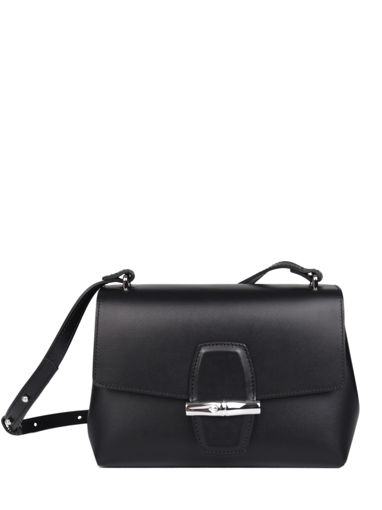 Longchamp Roseau box Sac porté travers Noir