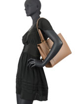 Sac Shopping Foulonné Double Cuir Lancaster foulonne double 23-vue-porte