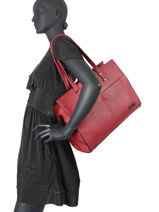 Sac Shopping Format A4 Gallantry Rouge format a4 1-vue-porte