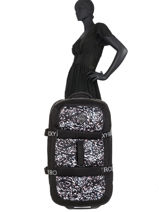 Valise Souple Luggage Neoprene Roxy Noir luggage neoprene RJBL3202-vue-porte