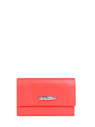 Longchamp Roseau box Portefeuille Rose