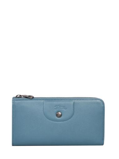 Longchamp Le pliage cuir Portefeuille Bleu