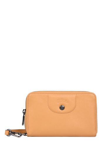 Longchamp Le pliage cuir Portefeuille Orange