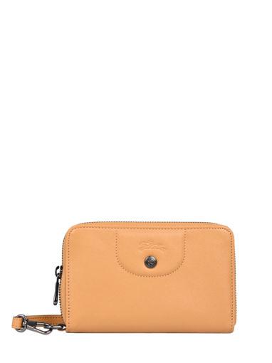 Longchamp Le pliage cuir Portefeuille Oranje