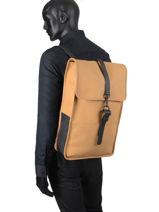 Sac à Dos Business Backpack Rains Jaune boston 1220-vue-porte