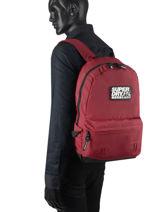 Sac A Dos 1 Compartiment Superdry backpack men M9110057-vue-porte
