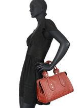 Longchamp La voyageuse lgp Sac porté main Rouge-vue-porte