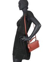 Longchamp La voyageuse lgp Sac porté travers Rouge-vue-porte