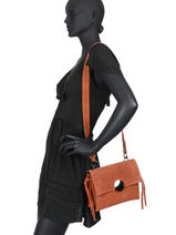 Sac à Main Velvet Milano Orange velvet VE20071-vue-porte