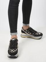 Sneakers wonder maxi leopard en cuir-LIU JO-vue-porte