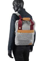 Sac à Dos Urban Bag Tricolor Faguo Gris tricolor 20LU0904-vue-porte