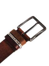 Herenriem Hells Leder Redskins Bruin belt HELLS-vue-porte