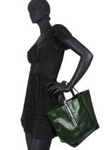 Le Cabas Moyen Cuir Paillettes Vanessa bruno Vert cabas cuir 2V40413-vue-porte
