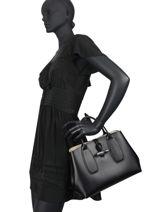 Longchamp Roseau box Sac porté main Noir-vue-porte