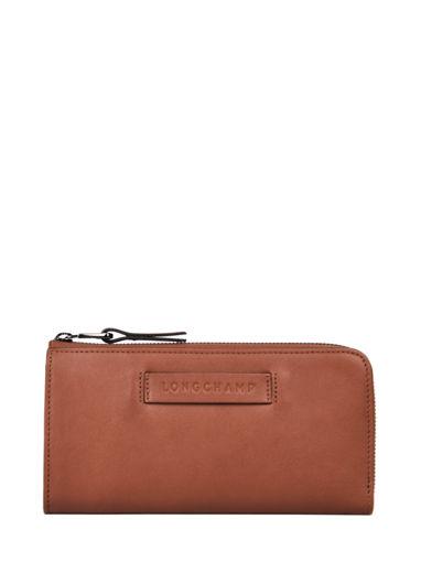 Longchamp Longchamp 3d zip Portefeuille Bruin