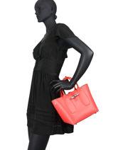 Longchamp Roseau box Sac porté main Rose-vue-porte