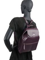 Longchamp Sac à dos Violet-vue-porte