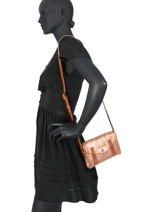 Cross Body Tas Mini Indispensable Leder Paul marius Roze vintage MINI-vue-porte
