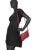 Sac Bandouliere Vicky Cuir Vintage Cuir Nat et nin Rouge vintage VICKY-vue-porte