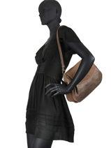 Sac Besace Ruby Cuir Mila louise Marron vintage 3418SVE-vue-porte