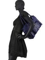 Shoppingtas Vintage Leder Paul marius Blauw vintage M-vue-porte