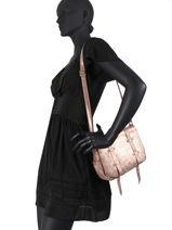 Sac Bandoulière Bess Cuir Vintage Cuir Mila louise Rose vintage 30171S-vue-porte