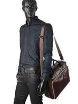 Longchamp Baxi Aktetas Bruin-vue-porte