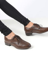 Chaussures à lacets en cuir-TAMARIS-vue-porte