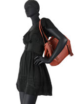 Shoppingtas Carrie Leder Michael kors carrie F0G1AE3L-vue-porte