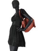 Shoppingtas Carrie Leder Michael kors Rood carrie F0G1AE3L-vue-porte
