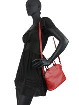 Longchamp Le foulonné Sac porté main Rouge-vue-porte