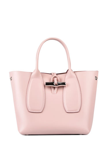 Longchamp Roseau box Sac porté main Rose