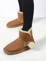 Classic charm mini laarzen uit leder-UGG-vue-porte
