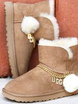 Classic charm mini laarzen uit leder-UGG