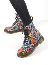 Boots 1460 pascal wanderlust à fleurs en cuir-DR MARTENS-vue-porte