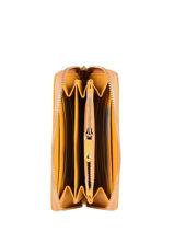Portefeuille Caviar Leder Crinkles Geel caviar 14256-vue-porte