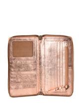 Portefeuille Leder Paul marius Roze vintage CHARLOTT-vue-porte