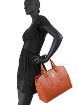 Cabas Sac Lily David jones Orange sac lily 2-vue-porte