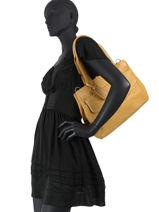 Sac Shopping Just Jackie Cuir Burkely Jaune just jackie 84-vue-porte