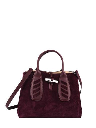 Longchamp Roseau lacet Sac porté main Rouge