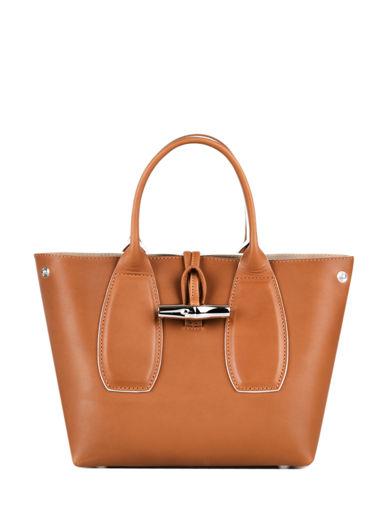 Longchamp Roseau luxe Sac porté main Marron