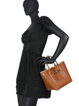 Longchamp Roseau luxe Sac porté main Marron-vue-porte