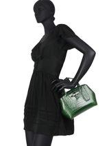 Longchamp Sac porté main Vert-vue-porte