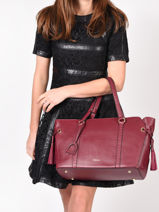 Sac Shopping Tradition Cuir Etrier Rouge tradition EHER25-vue-porte