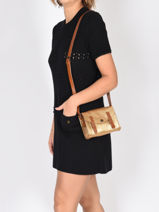 Cross Body Tas Mini Indispensable Leder Paul marius Goud vintage MINI-vue-porte