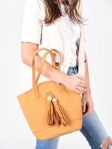 Sac Shopping Iris Woomen Jaune iris WIRIS05-vue-porte