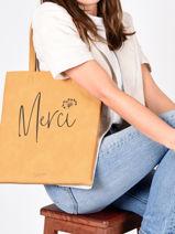 Sac Shopping Lilas Woomen Jaune lilas WLILA10-vue-porte